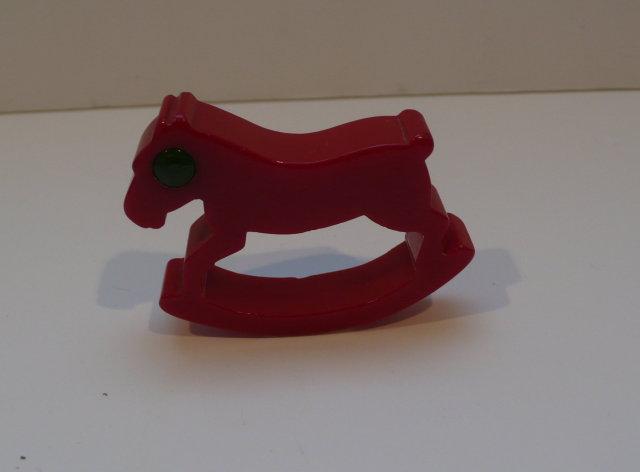Bakelite Vintage Rocking Horse Napkin Ring