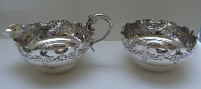 Victorian Silverplate Stawberry Serving Set