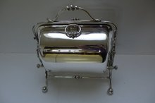 English Art Nouveau Folding Biscuit Box
