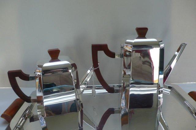 WMF Silver Plate & Bakelite Coffee/Tea Set &