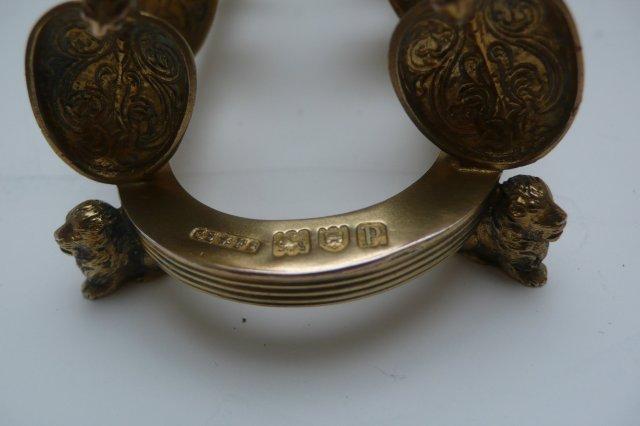 Sterling Gilded Coronation Spoon Toast Rack