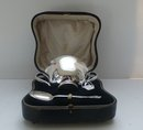 English Sterling Boxed Bowl & Spoon