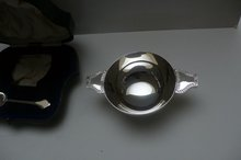 Sterling Boxed Bowl and Spoon London 1922