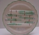 Majolica French Asparagus Plate