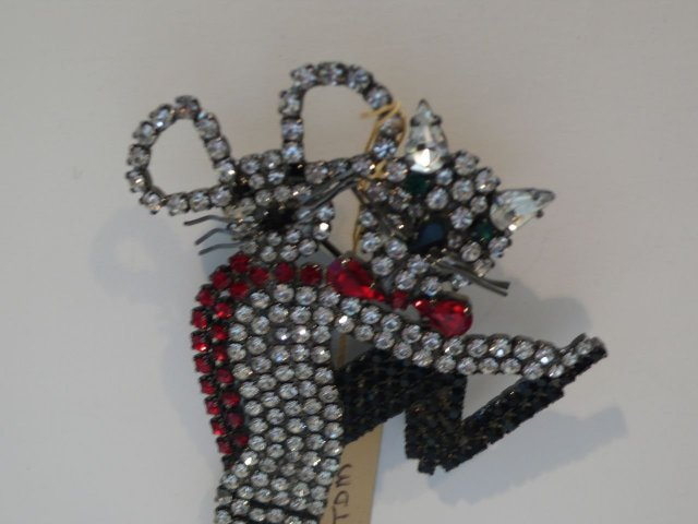 Butler & Wilson Dancing Cats Brooch