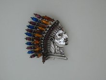 Butler & Wilson Silver Indian Head