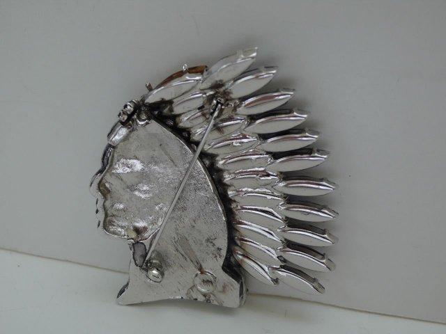 Butler & Wilson Silver Indian Head