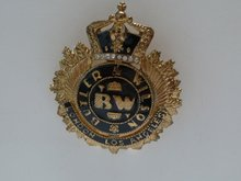 Butler & Wilson Crown Emblem Brooch