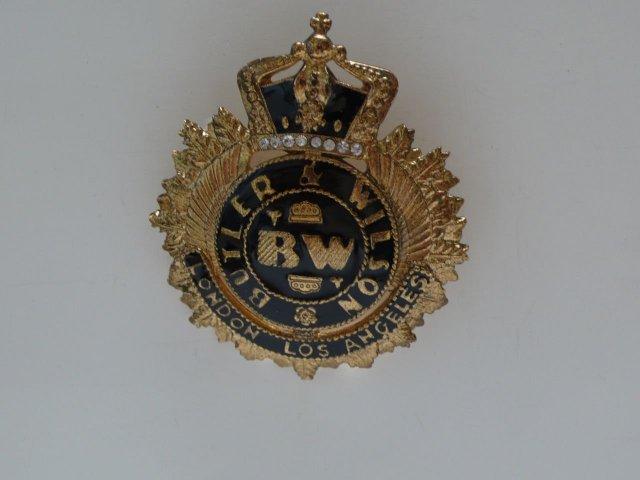 Butler & Wilson Crown Emblem Brooch