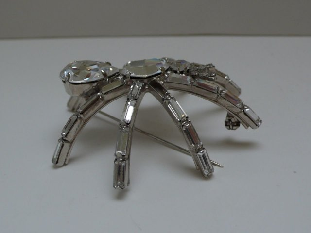 Butler and Wilson Small White Spider Brooch
