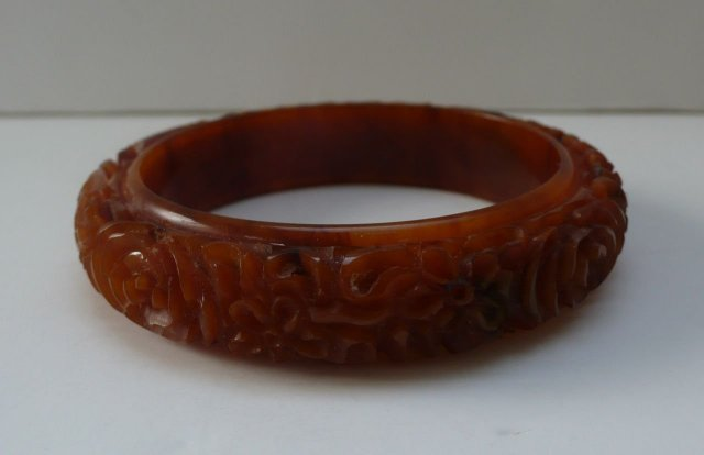 Bakelite Vintage Completely Molasses Carved