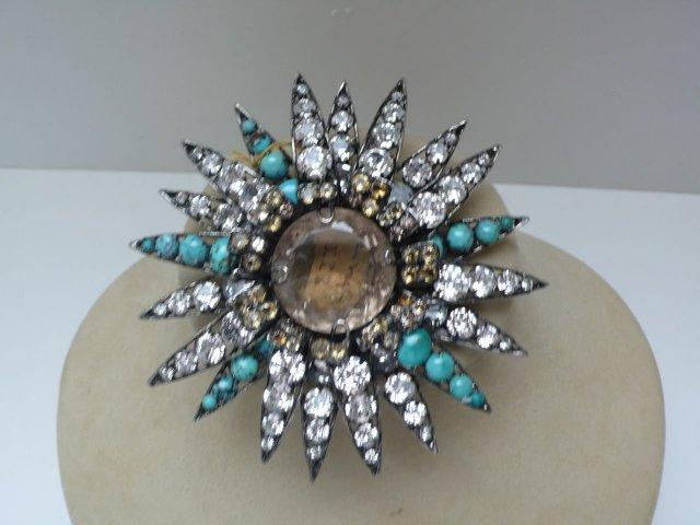 Iradj Moini Turquoise Star Burst Brooch