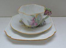 Shelley Dainty Harebell Flower Handle Trio