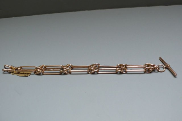 Victorian Rose Gold 9 Ct. Prince Albert Chain