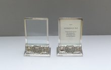 English Pair Sterling Nautical Menu Holders