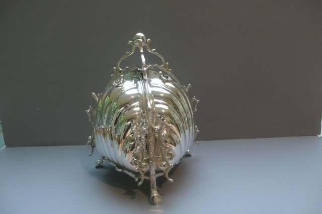 Victorian Silver Plate Triple Biscuit Box