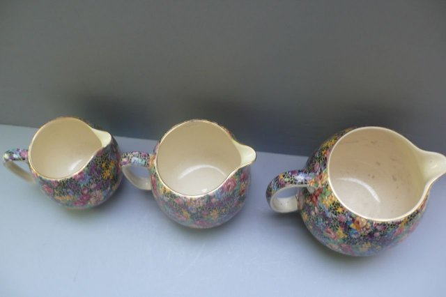 Royal Winton 3 Vintage Chintz Hazel  Jugs