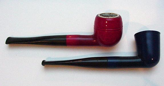 Bakelite Vintage Red and Blue Pipes