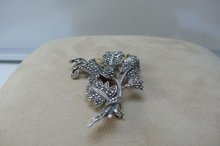 Sterling Marcasite English Brooch