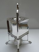 Deco Silver Plate Cube Kettle