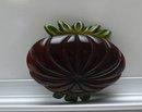 Bakelite Vintage Pumpkin/Squash Brooch