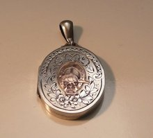 Victorian Sterling Silver Equestrian Locket