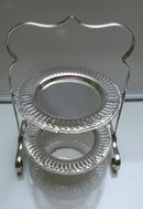Victorian Silver Plate 2 Tier Cake Server