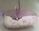 Silver Plate English Aesthetic Biscuit Box