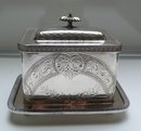 Victorian Silver Plate Rectangular Biscuit Box