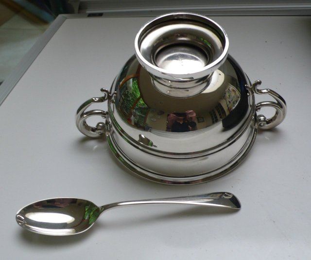 English Silver Christening Set