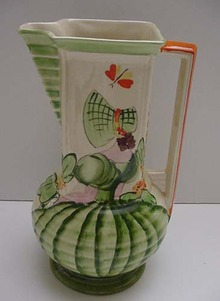 Myott Deco Little Girl Pitcher