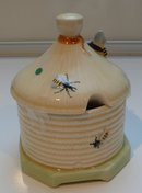 Crown Devon English China Bee Honey Jar