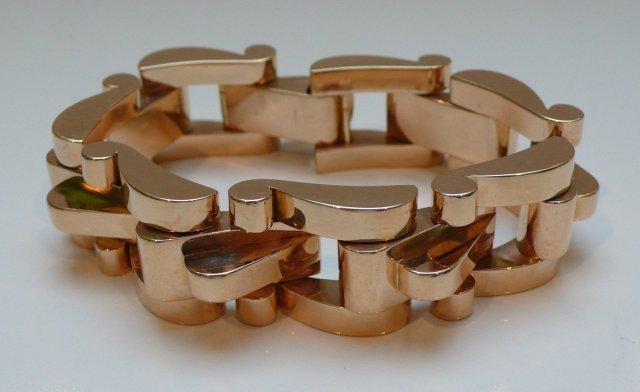 18 Kt. Rose Gold 1940's Chunky Link Bracelet