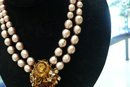 Miriam Haskell Pearl and Gem Necklace