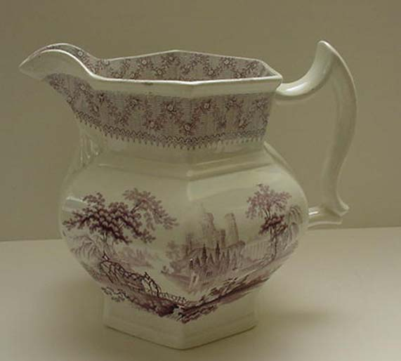 J&G Alcock English Ironstone Pitcher