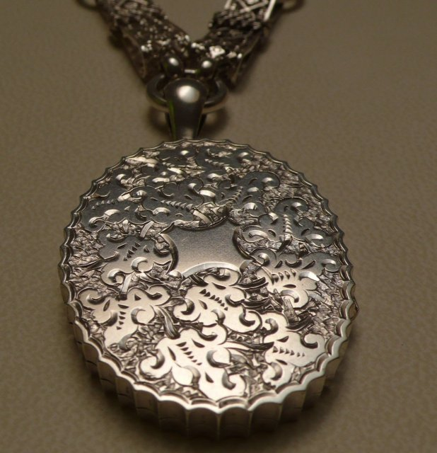 Victorian Sterling Silver Necklace and Locket