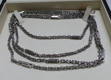 Victorian sterling Silver chain with stations
