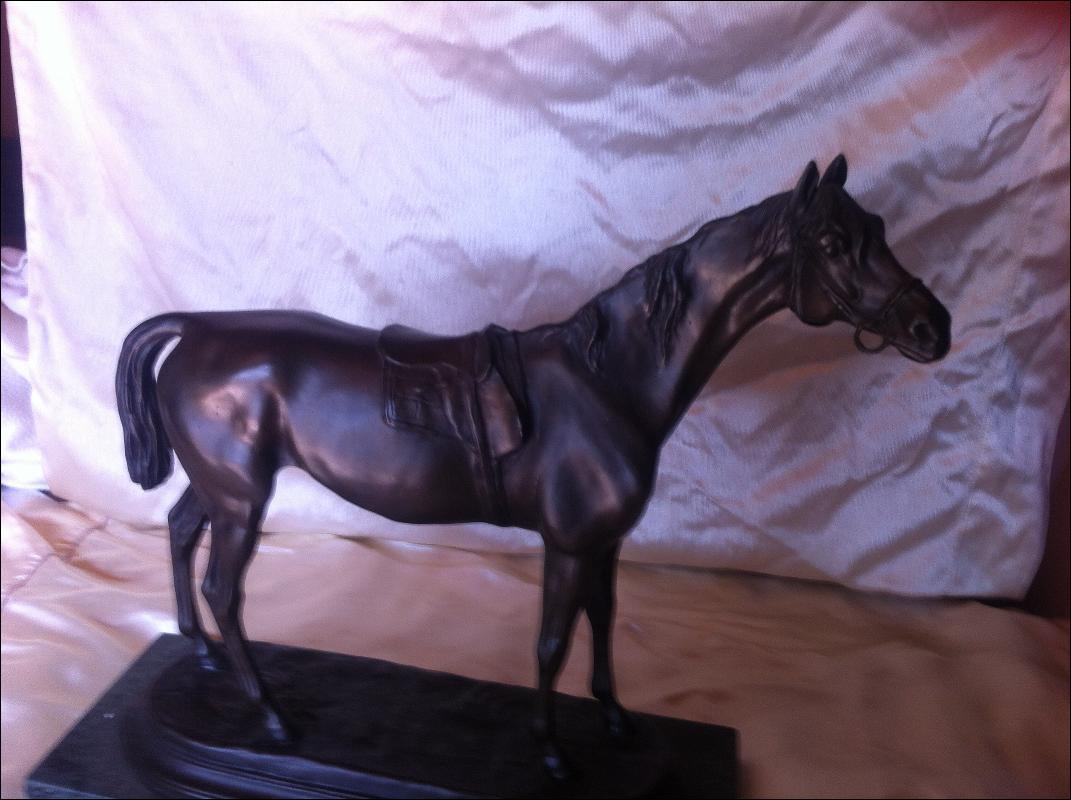 Jules Moigniez Bronze Horse Signed