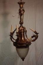 Mid 19th Century Dore' Bronze Chandelier