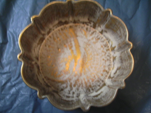 Stangl Bowl Antique Gold