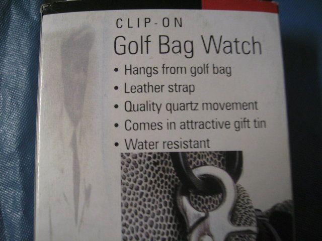 Golf Bag Watch - Clip on