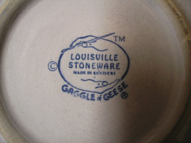 Louisville Stoneware Gaggle of Geese Chip and Dip
