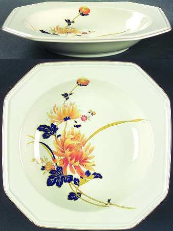 Mikasa Rimmed Soup Bowls - Majestic Pattern