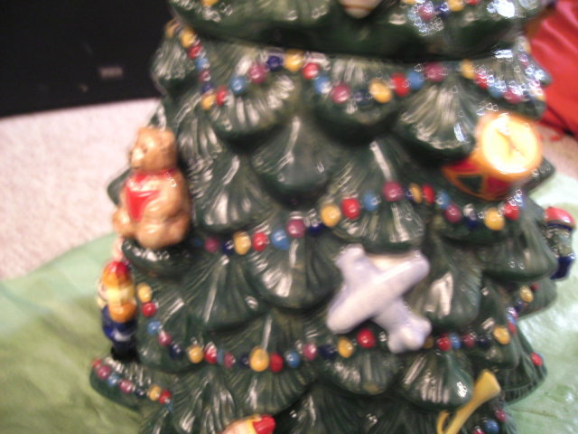 Christopher Radko Traditions Holiday Celebrations Christmas Tree Cookie Jar