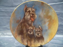 Schnauzer Puppies Decorative Plate by Leo Jansen from the My Favorite Pet Series