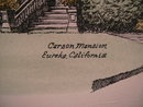 Lithograph of the Carson Mansion, Eureka California by Debbie Patrick