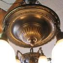 Vintage 3- Light Brass Hanging Chandelier