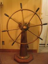 Vintage Ship Steering Station