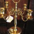 Polished Brass 4 Light Candelabra
