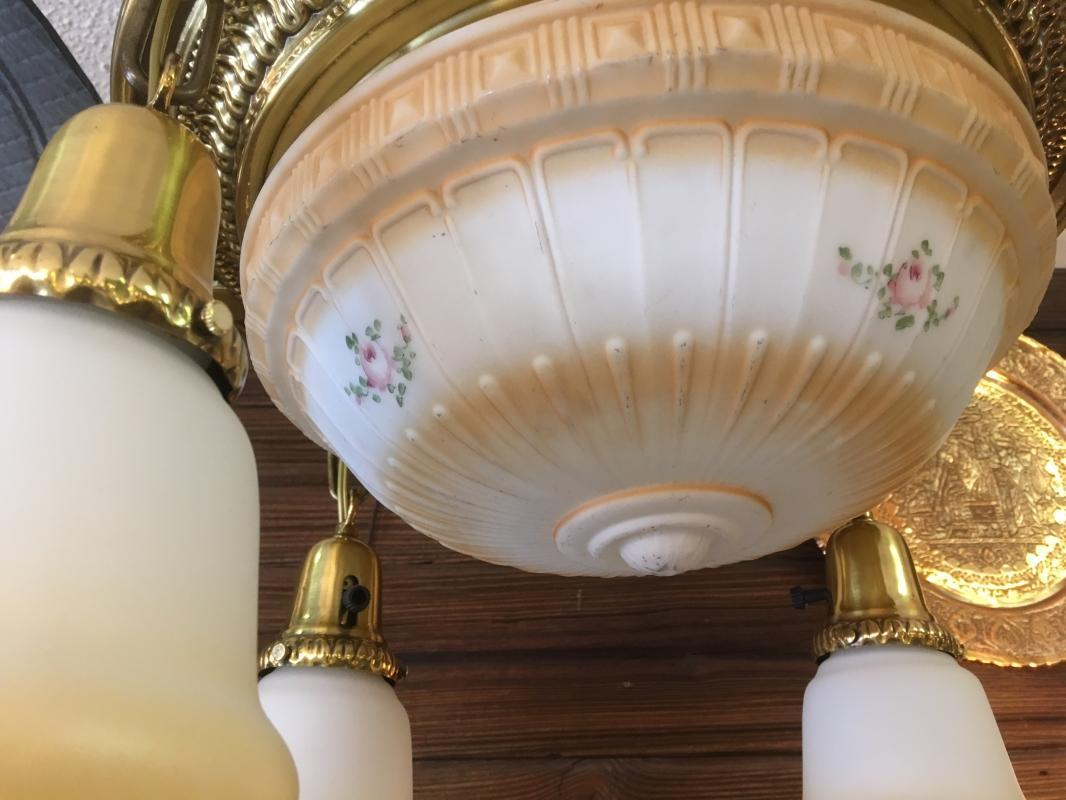 Vintage Large Globe Hanging Chandelier